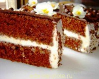 Кофейные пирожные с миндалем