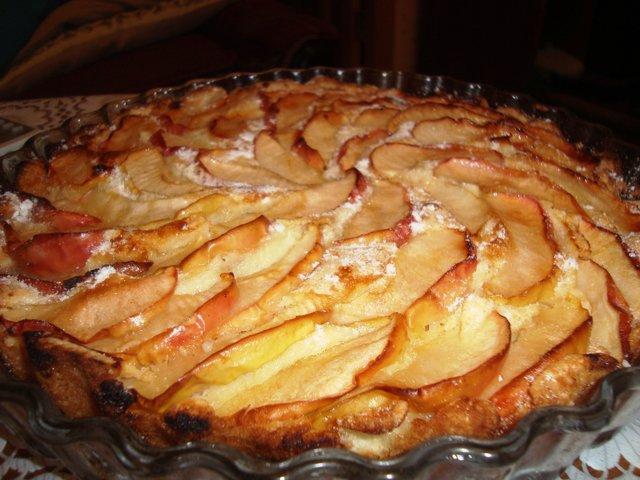 Готовим Фруктовый пирог с яблоками и инжиром