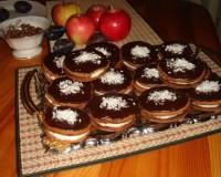 Шоколадное печенье с апельсиновым кремом