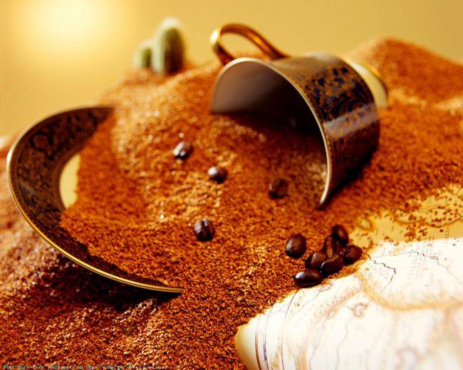 Гранулированный и порошковый растворимый кофе