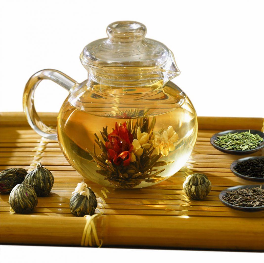 Чай цветок распускается фото