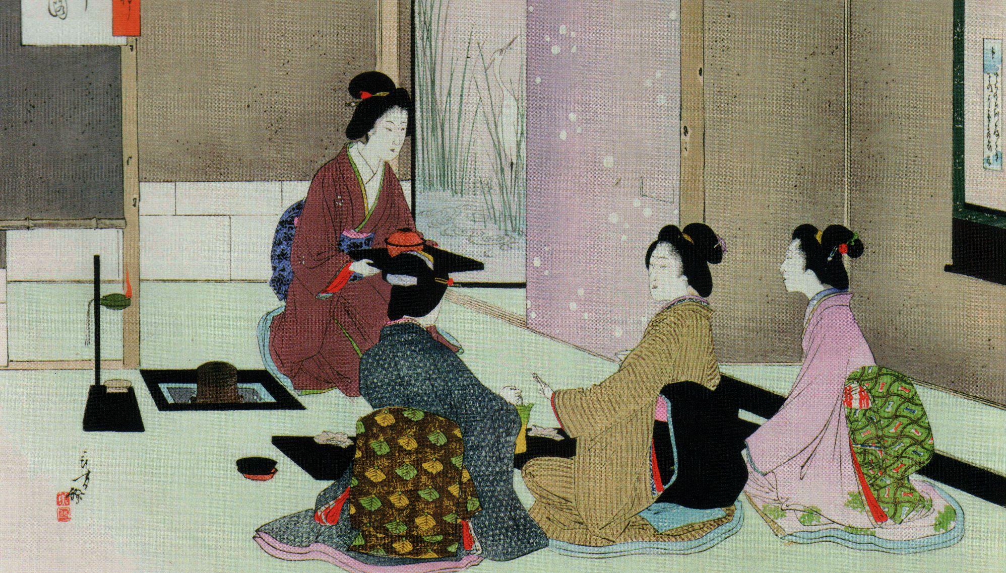 Семейный меридиан китайская и японская чайная церемония