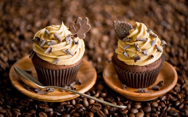 Кофе с пирожными открытки 57
