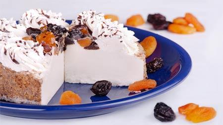 Диетический десерт из творога с желатином