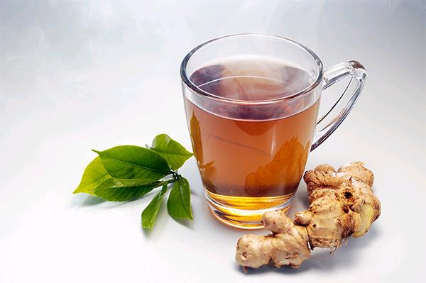 черный чай с имбирём и смородиной - рецепт