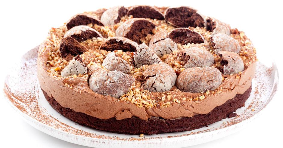 шоколадный торт с нежным кремом из сыра