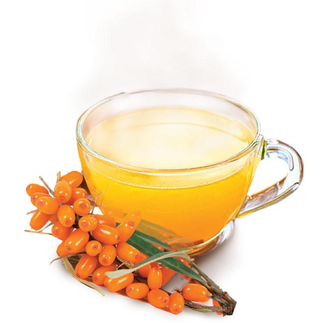 осенний чай с облепихой