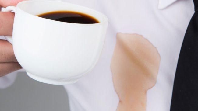 как вывести свежее пятно от кофе