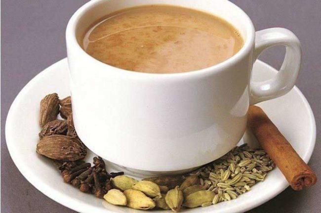 чай с кардамоном и корицей