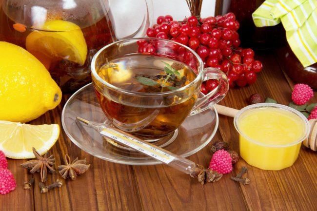 чай м калиной от кашля