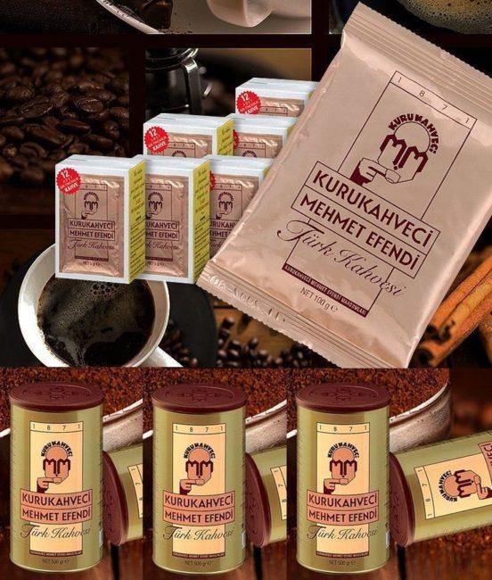ассортимент турецкого кофе мехмет эфенди