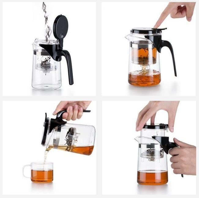 как заваривать чай в чайнику гунфу