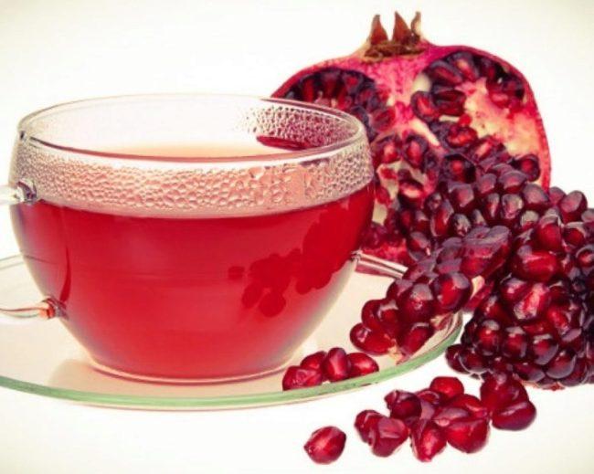 гранатовый чай и его вкус