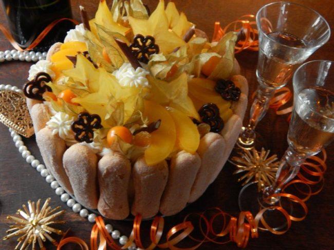 новогодний торт с шампанским