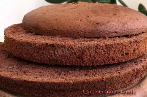 Бисквитные коржи для торта Сникерс