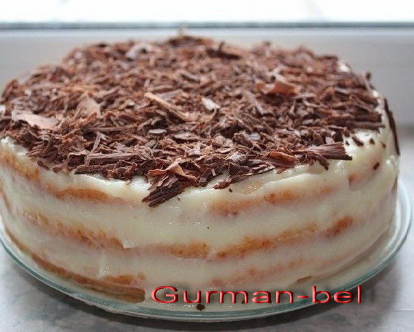 торт Минутка на сковороде со сгущёнкой - быстрый рецепт