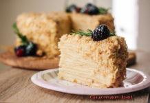 Торт Наполеон классический: пошаговый рецепт