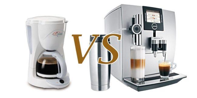 в чем разница между кофеваркой и кофемашиной