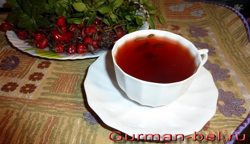 рецепты брусничного чая, из листьев, от отёков, с имбирём для похудения, для лактации, для иммунитета