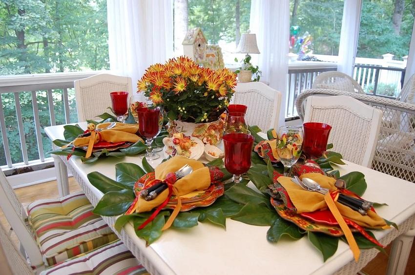 красивый стол на день рождения