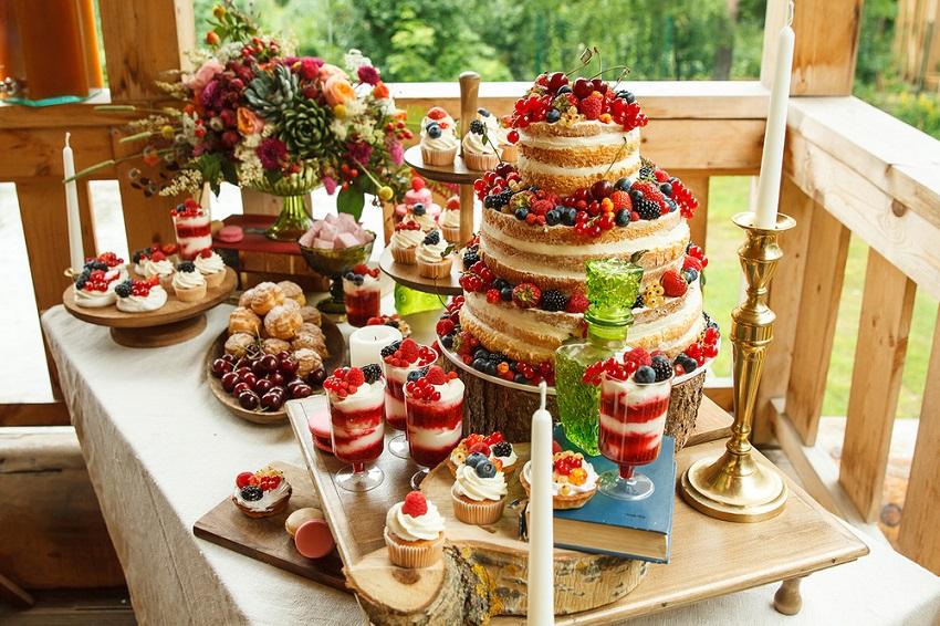 праздничный сладкий стол