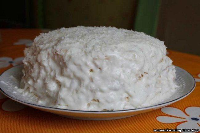 торт рафаэлло без выпечки