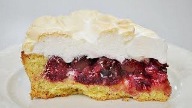 вишнёвый пирог с безе