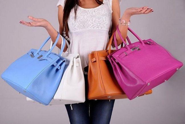 выбор цвета сумки