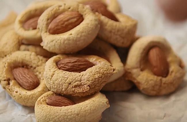 печенье из маршмеллоу с миндалем рецепт