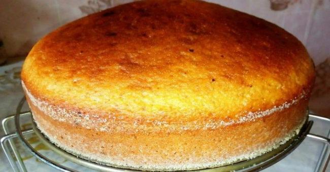 Пышный итальянский бисквит Маргарита - пошаговый рецепт приготовления