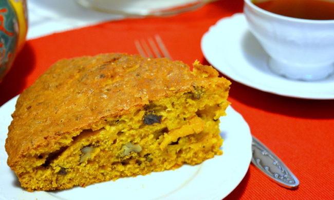 Пирог из тыквы с орехами