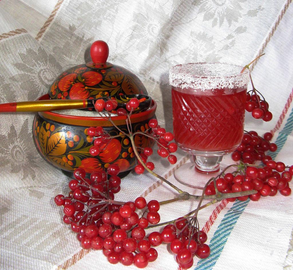 чай с ягодами калины польза
