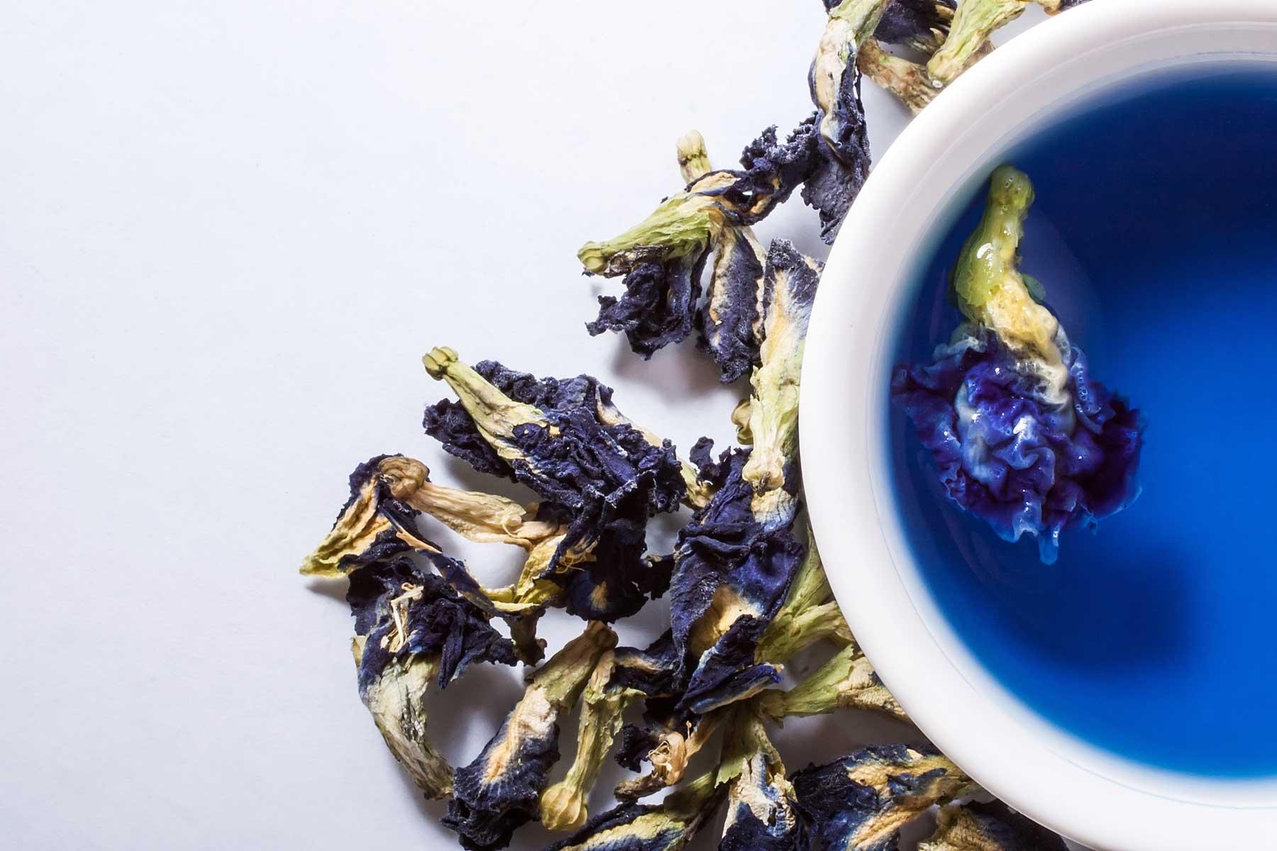 как называется синий чай из тайланда