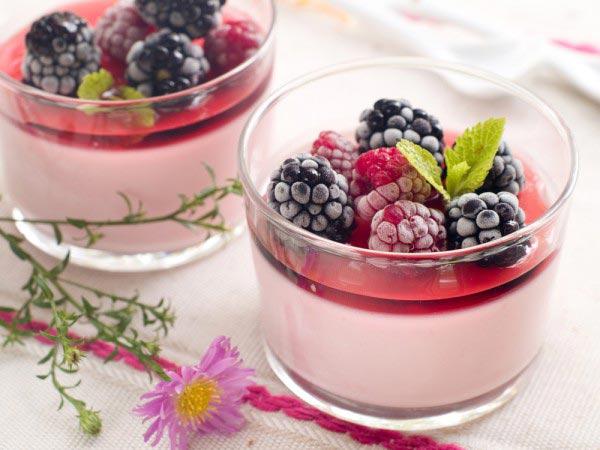 Йогуртовый мусс с ягодами - рецепт