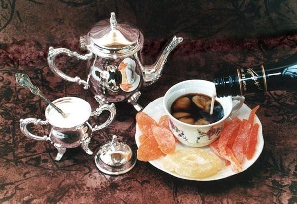 Рецепт кофе с вишневым ликером и медом