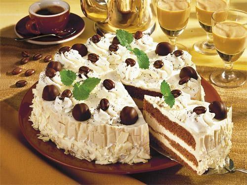 Рецепт. Кофейный торт с маскарпоне