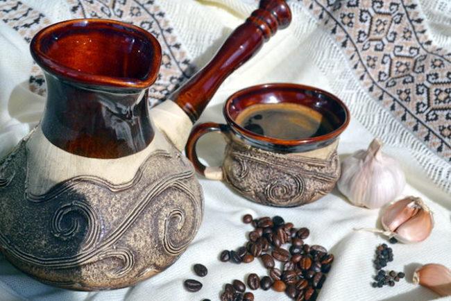 Кофе с медом и чесноком