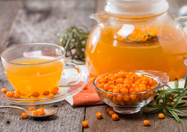 Витаминный чай с облепихой - простой и полезный рецепт