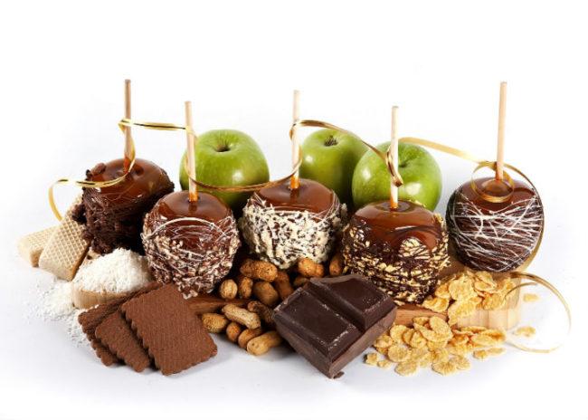 яблоки в шоколаде - рецепт приготовления в домашних условиях