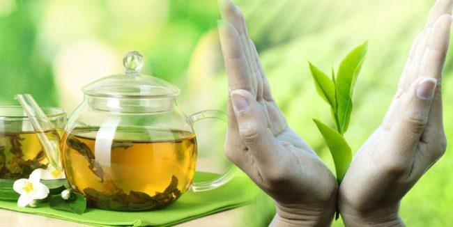 зелёный чай с саусепом