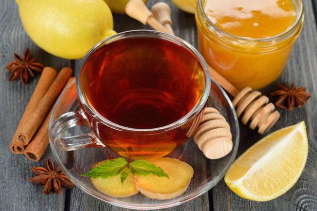 чай с имбирём и лимоном для похудения: рецепт