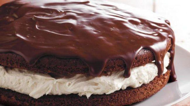 """шоколадный торт с нежным кремом из сыра """"Маскарпоне"""" - рецепт"""