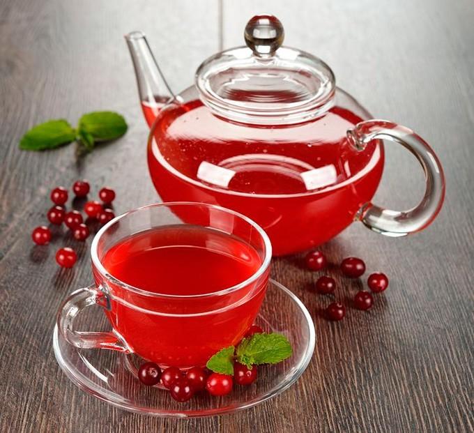 чай с клюквой - польза, рецепт