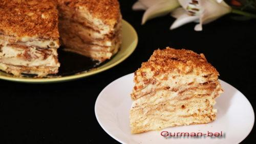 торт наполеон классический с заварным кремом