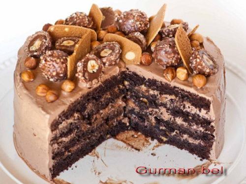 Торт Сникерс-украшение торта своими руками