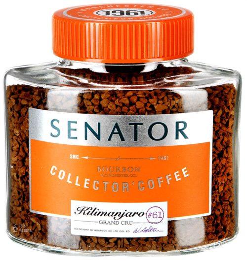 Кофе растворимый в стеклянной банке Сенатор Килиманджаро