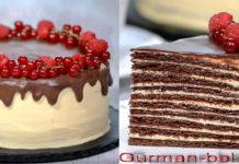 Торт Спартак - рецепты со сметанным и заварным кремом