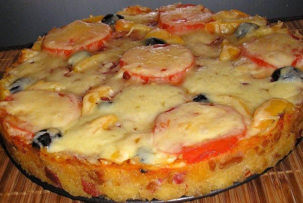 Пицца из батона в микроволновке