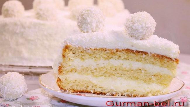 Рецепт пирожного Рафаэлло