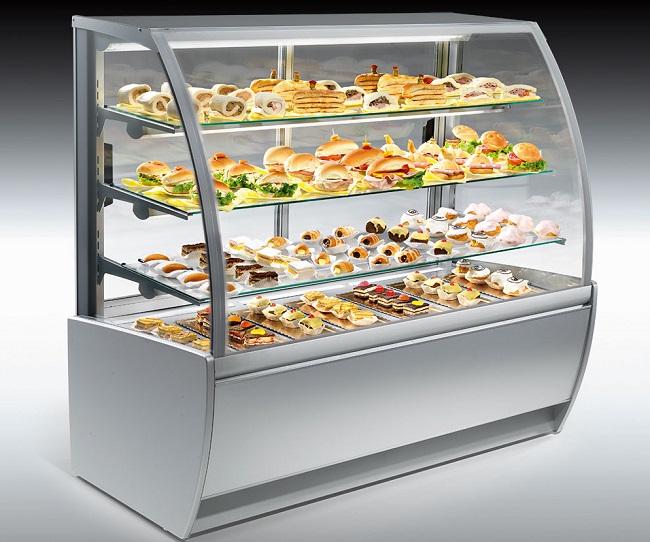 виды холодильных обзорных витрин
